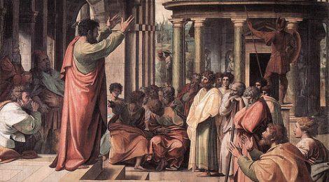 Apostle Paul preaching